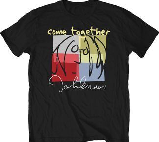 The Beatles John Lennon Come Together Adult Black T-Shirt