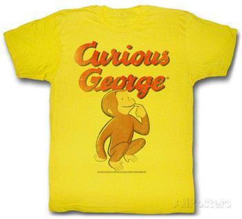 Curious George Can/'t Catch Me Juvenile Kids  T-Shirt 5,6,7