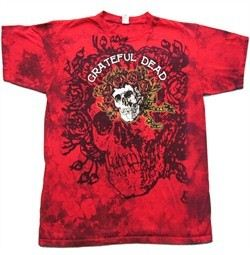 1faf68bcc066 ... Grateful Dead Shirt Tie Dye All Over Red Tee T-Shirt