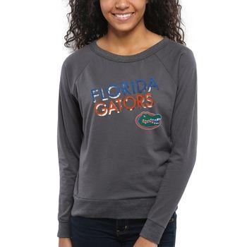 Florida Gators Women's Crazy Love Boat Neck Long Sleeve T-Shirt – Charcoal