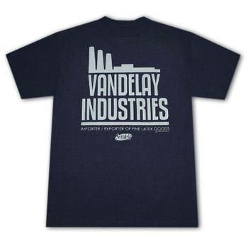 Seinfeld Vandelay Industries Dark Blue Graphic Tee Shirt