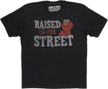 Sesame Street Elmo Raised on the Street T-Shirt Sheer