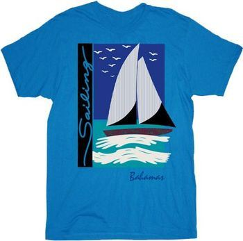Step Brothers Sailing Bahamas Brennan Turquoise Blue Adult T-shirt