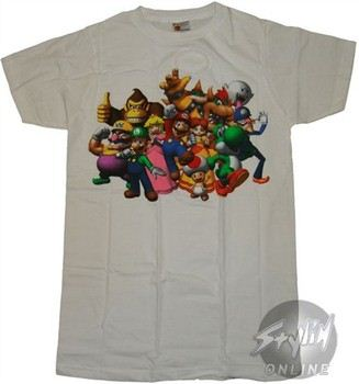 Super Mario 3D Group T-Shirt Sheer