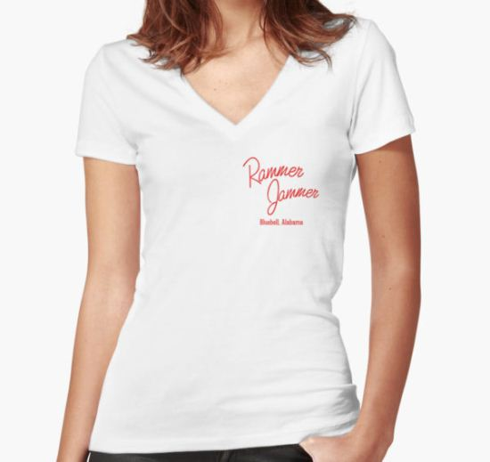 Rammer Jammer Women's Fitted V-Neck T-Shirt by xMargot T-Shirt