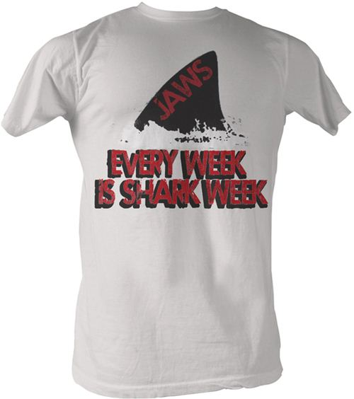 JAWS Every Week Is Shark Week Vintage White T-Shirt