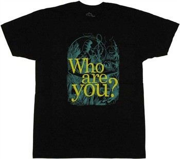 Alice in Wonderland Caterpillar Who Are You? T-Shirt Sheer