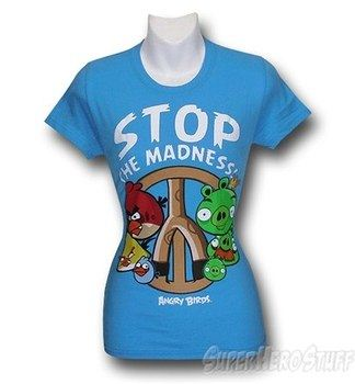 Angry Birds Women's Stop the Madness T-Shirt