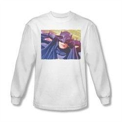 Classic Batman Shirt Mask Long Sleeve White Tee T-Shirt