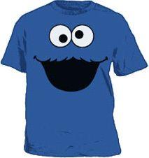 Cookie Monster Face Sesame Street T-Shirt