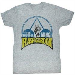 Flash Gordon T-Shirt Movie Emperor Ming Adult Heather Grey Tee Shirt