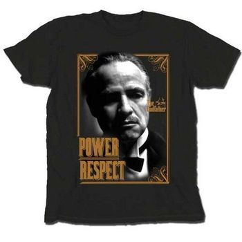 The Godfather Don Vito Corleone Power Respect T-shirt
