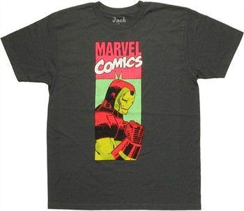 Marvel Comics Iron Man Neon Marvel Panel Jack of All Trades T-Shirt Sheer