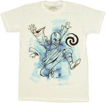 M. Night Shyamalan's The Last Airbender Aang Jump T-Shirt Sheer