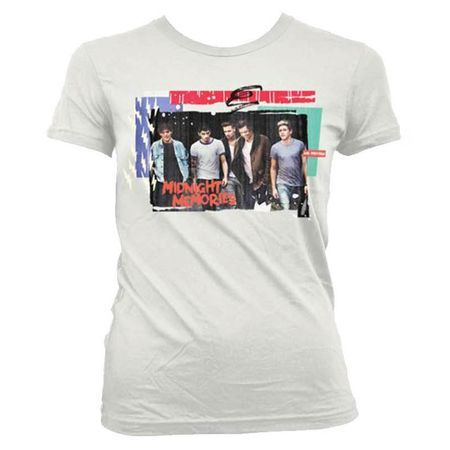 One Direction: Midnight Memories White Skinny T-Shirt - Large
