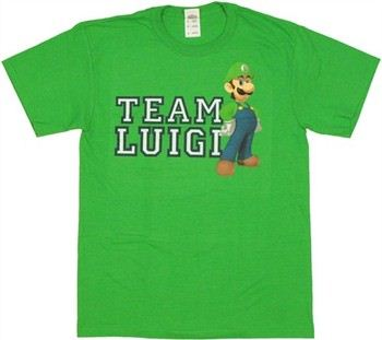 Nintendo Super Mario Team Luigi T-Shirt