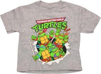 Teenage Mutant Ninja Turtles Group Burst Out Toddler T-Shirt