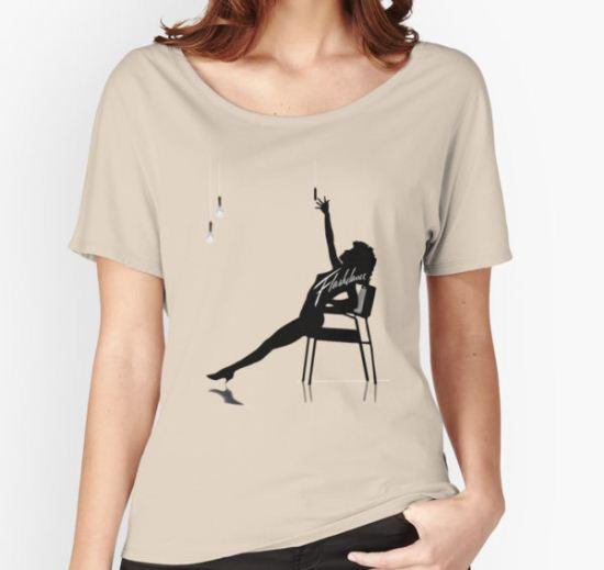 Flashdance Women's Relaxed Fit T-Shirt by sandnotoil T-Shirt