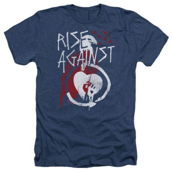 Rise Against Shirt Eagle Heather Navy T-Shirt