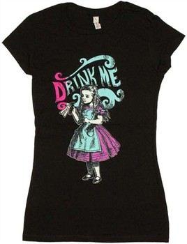 Alice in Wonderland Drink Me Baby Doll Tee