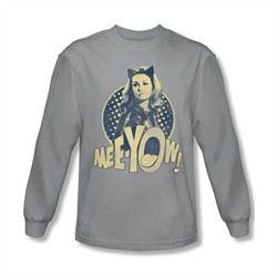 Classic Batman Shirt Meeyow Long Sleeve Silver Sweatshirt
