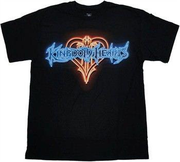 Kingdom Hearts Neon Sign Logo T-Shirt