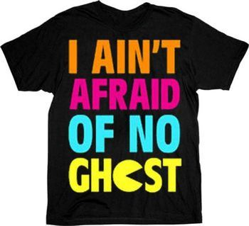 Pac-Man I Ain't Afraid of No Ghost Black Adult T-shirt