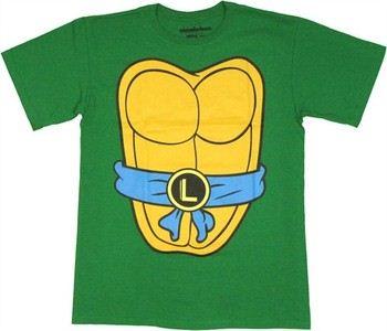 Teenage Mutant Ninja Turtles TMNT Leonardo Costume Double Sided T-Shirt