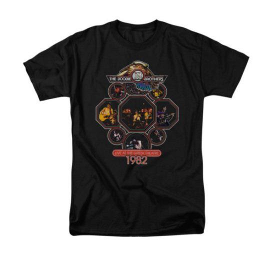 The Doobie Brothers Shirt 1982 Black T-Shirt