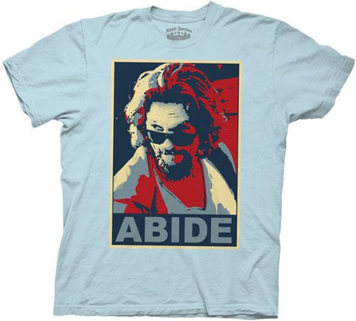 The Big Lebowski Parody Abide Light Blue T-shirt