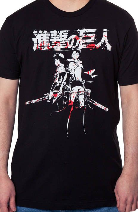 Attack on Titan Lineup White Adult T-shirt