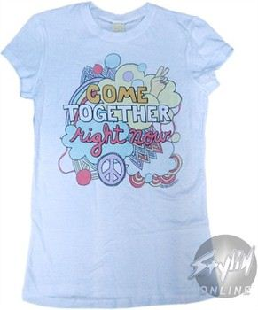 The Beatles Come Together Right Now Baby Doll Tee by Mighty Fine