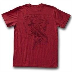 Flash Gordon Shirt Flash Adult Heather Red Tee T-Shirt