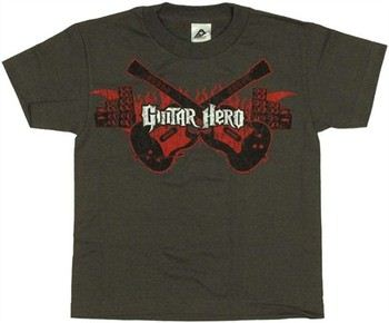Guitar Hero Flame Guitars Youth T-Shirt