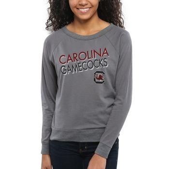 South Carolina Gamecocks Women's Crazy Love Boat Neck Long Sleeve T-Shirt – Charcoal