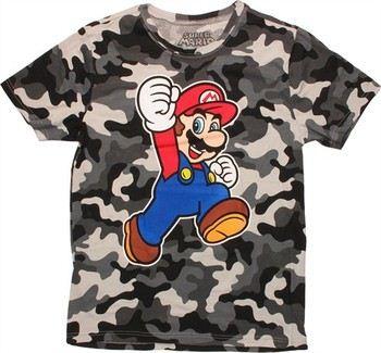 Nintendo Super Mario Jump Snow Camo T-Shirt