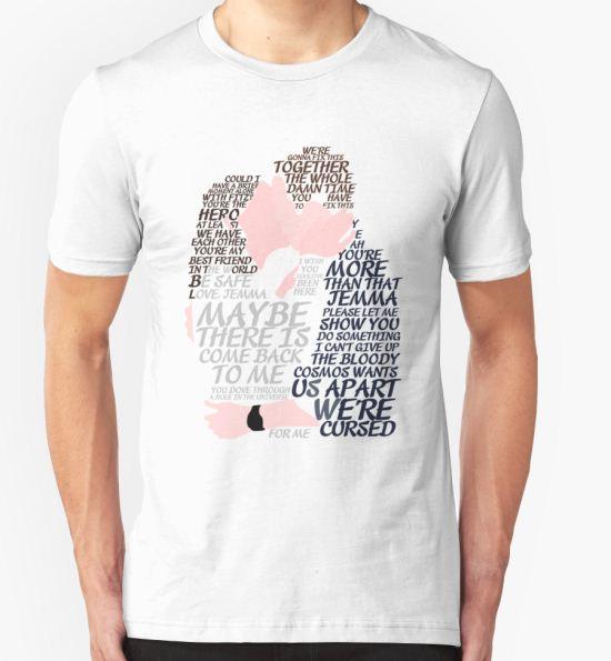 'Fitzsimmons' Minimal Kiss Art Quotes' T-Shirt by LaAngol T-Shirt