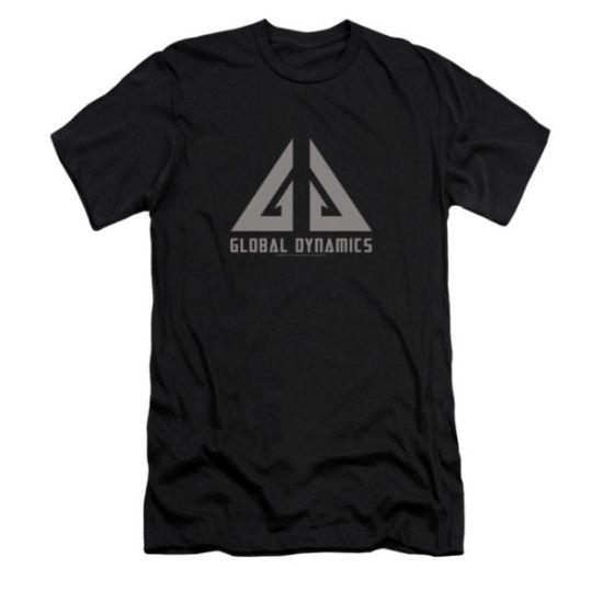Eureka Shirt Slim Fit Global Dynamics Logo Black T-Shirt
