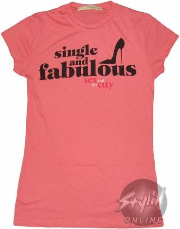 Sex and the City Single Fabulous Baby Tee