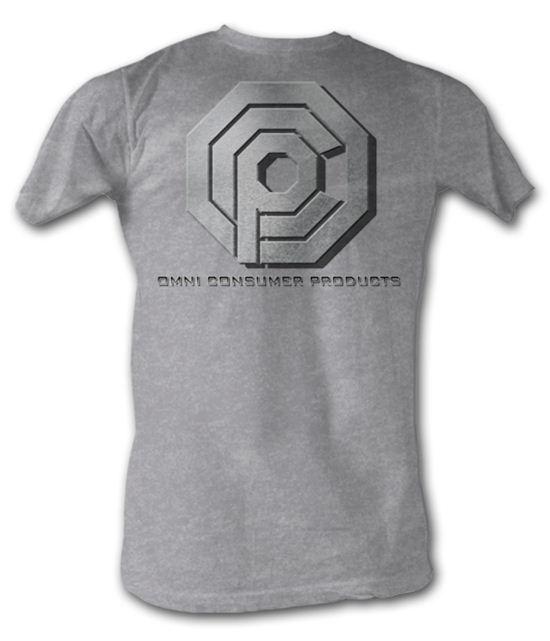 Robocop T-Shirt - OCP Logo Adult Heather Grey Tee Shirt