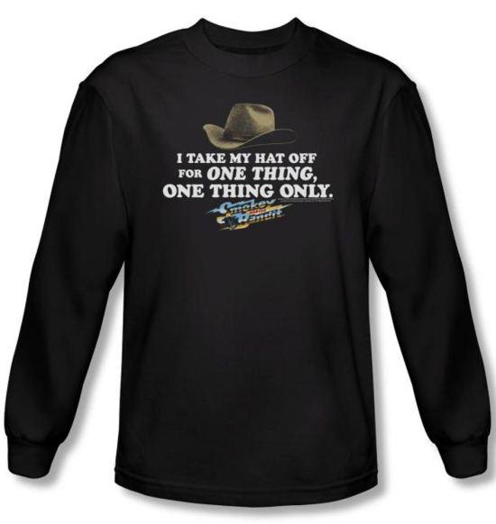 Smokey And The Bandit T-shirt Movie Hat Adult Black Long Sleeve Shirt