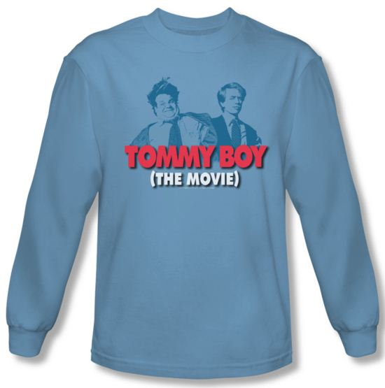 Tommy Boy Shirt Movie Logo Long Sleeve Carolina Blue Tee T-Shirt