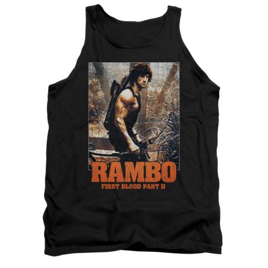 Rambo First Blood II Tank Top The Hunt Black Tanktop