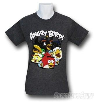 Angry Birds Cityscape Group T-Shirt