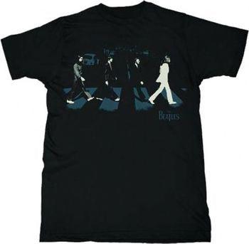 The Beatles Abbey Stride Adult Black T-Shirt