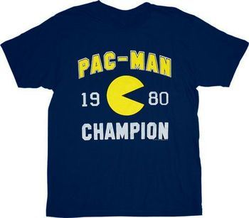 Pac-Man 1980 Champion Navy T-shirt