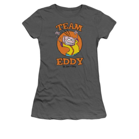 Ed, Edd N Eddy Shirt Juniors Team Eddy Charcoal Tee T-Shirt