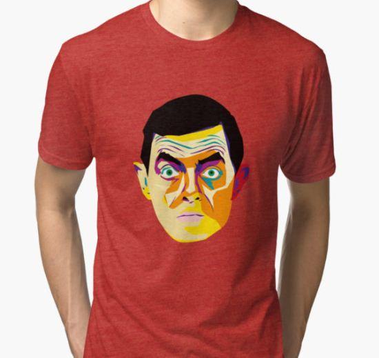 Mr Bean Tri-blend T-Shirt by 2piu2design T-Shirt