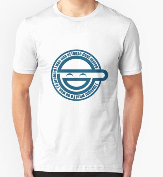 Laughing man T-Shirt by johnslegers T-Shirt