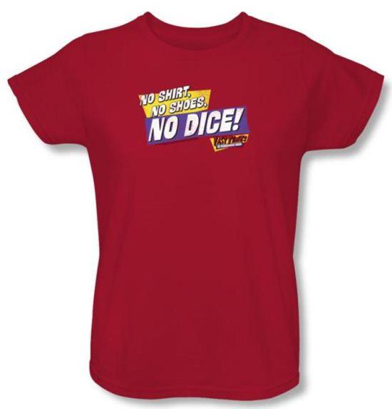 Fast Times At Ridgemont High Ladies T-shirt No Dice Red Tee Shirt